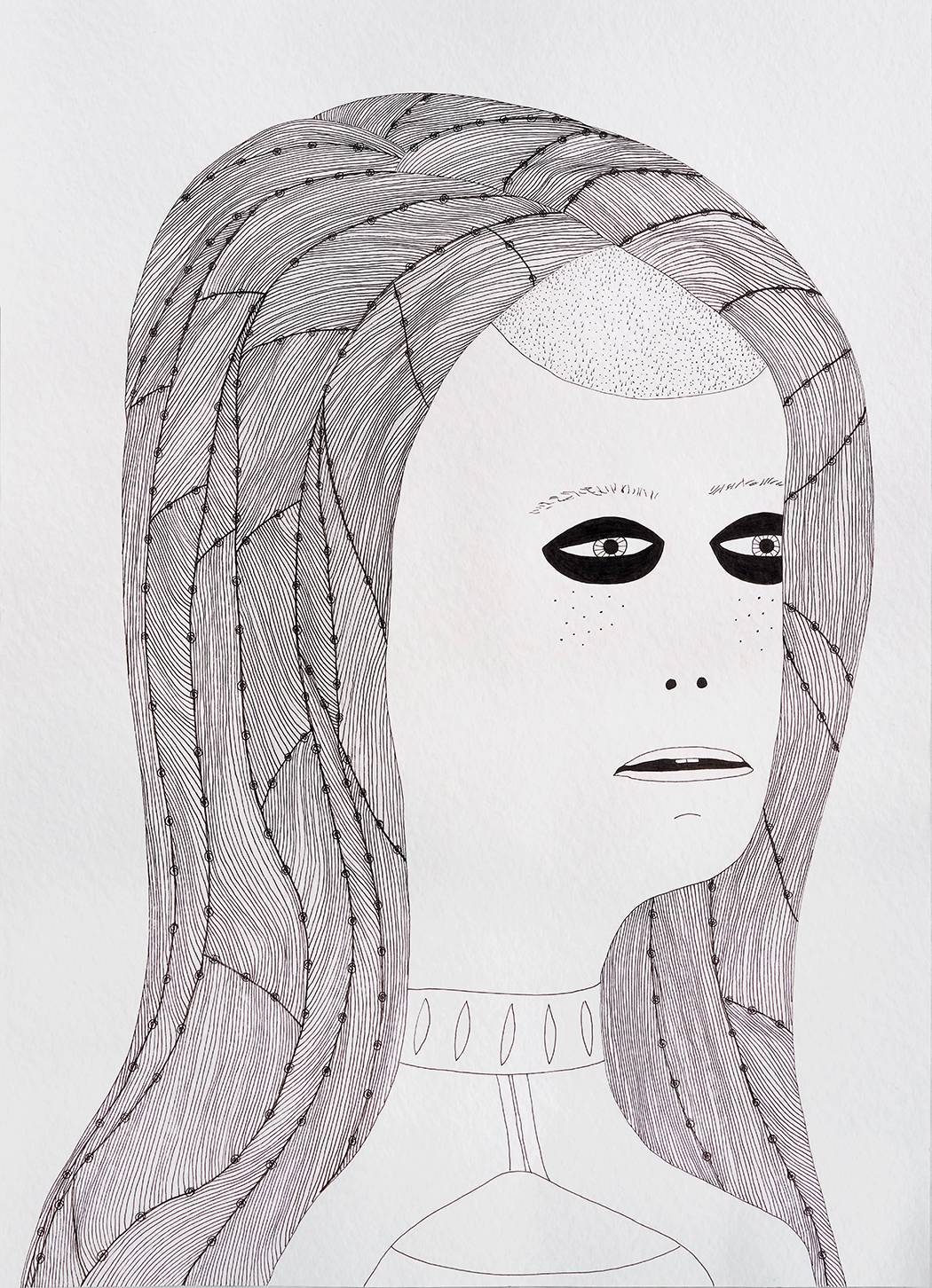 Laylah Ali. <em> Untitled</em>, 2014. Ink and pencil on paper, 31 x 22 inches (78.7 x 55.9 cm)