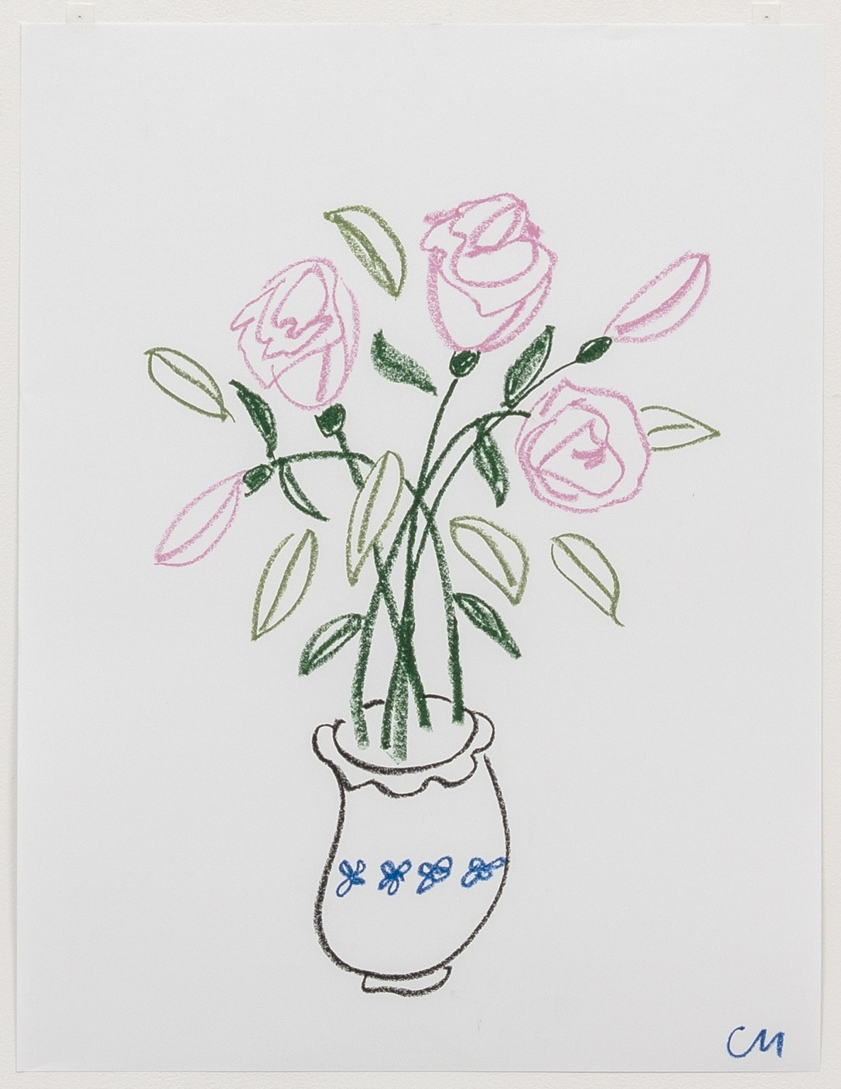 Claire Milbrath. <em>Untitled (44)</em>, 2018. Oil pastel on paper, 23 1/2 x 18 inches  (59.7 x 45.7 cm)