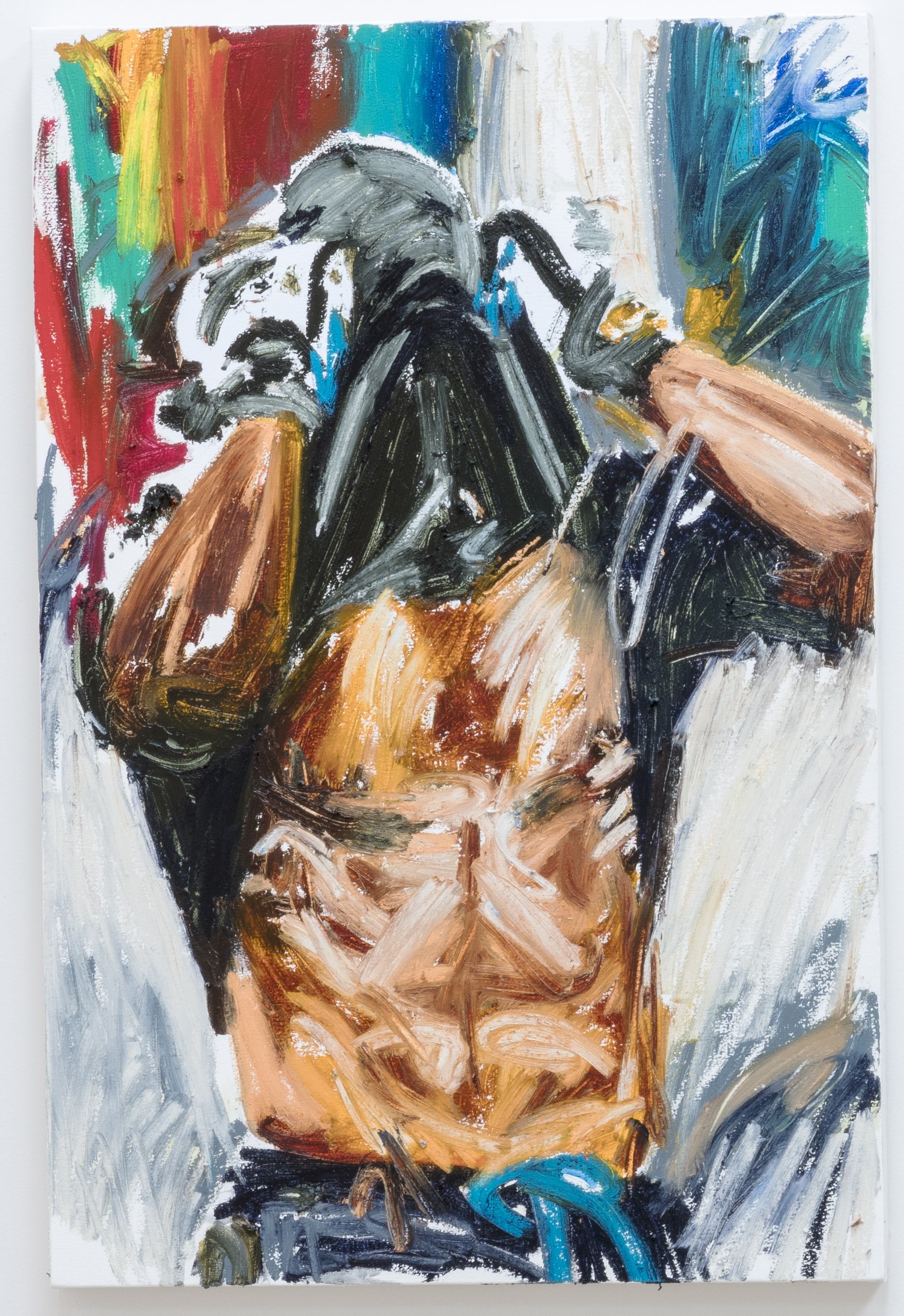 Conrad Ruíz. <em>Phantom 5</em>, 2018. Oil stick on canvas, 36 x 24 inches  (91.4 x 61 cm)