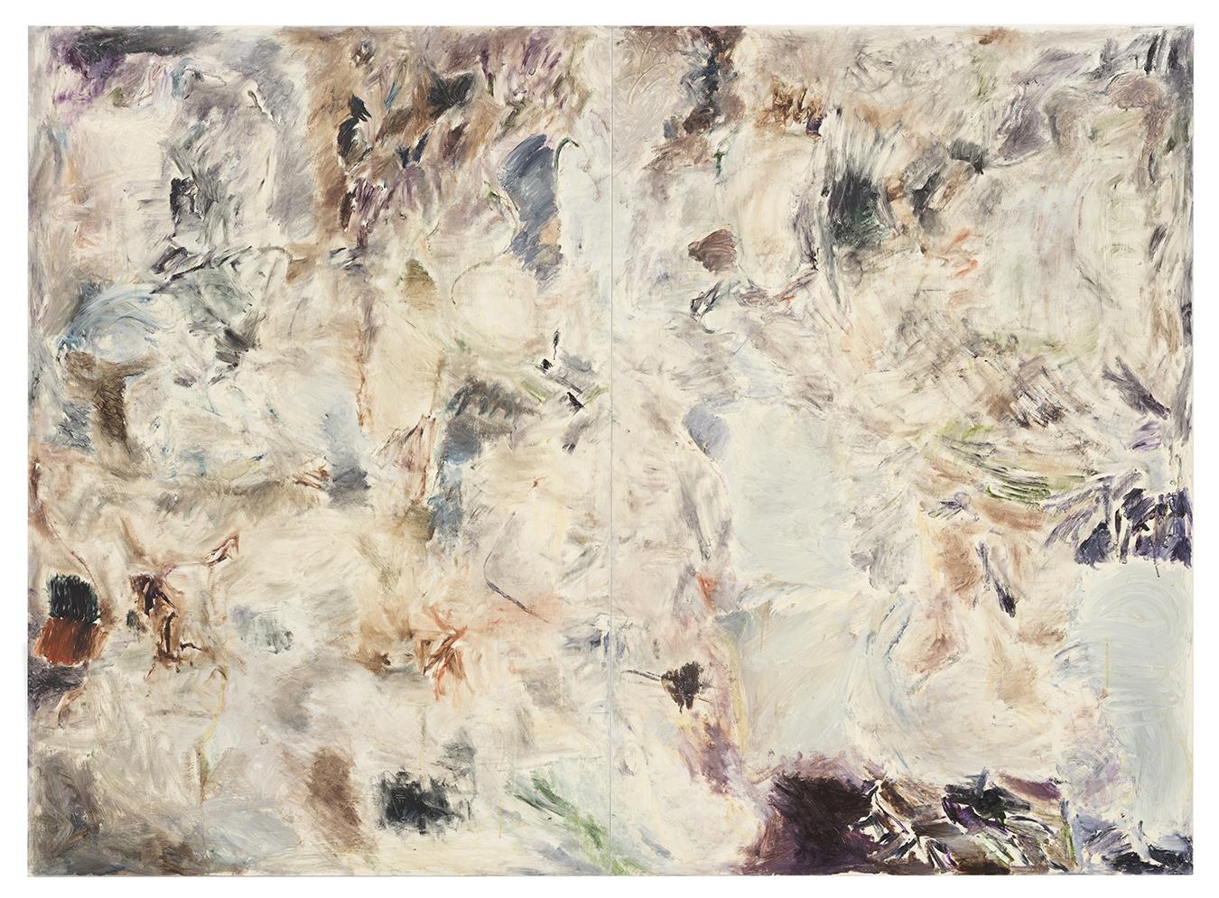 Joaquín Boz. <em>Nuevas Sustancias</em>, 2018. Oil on panel, 74 3/4 x 102 3/8 inches (190 x 260 cm)