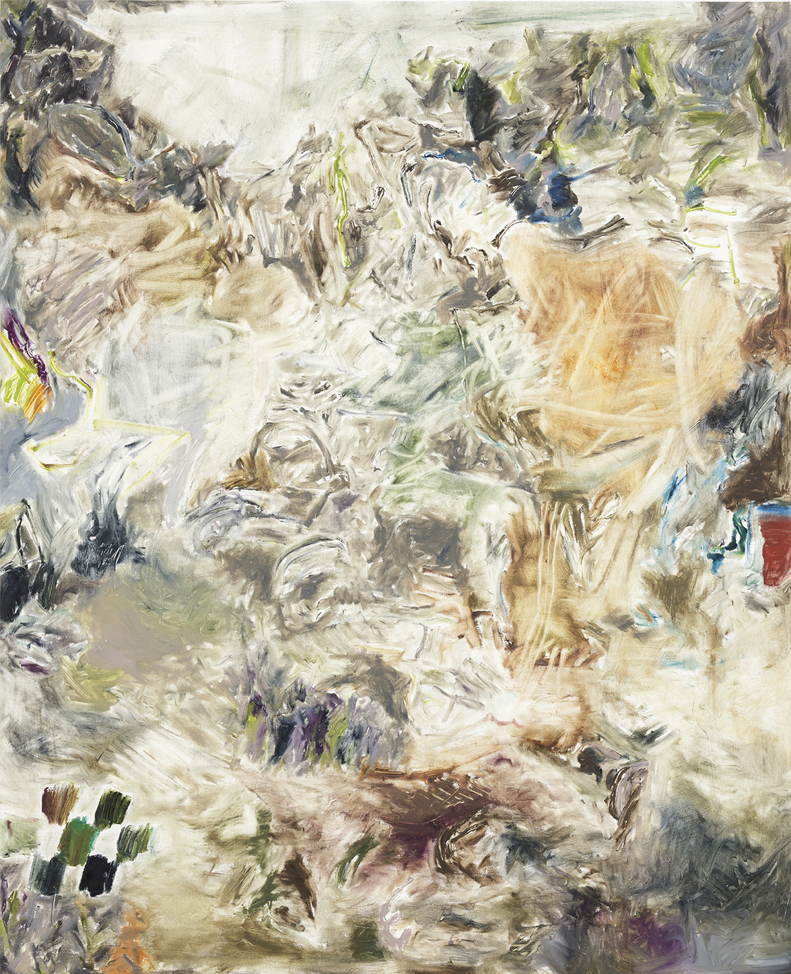 Joaquin Boz. <em>Untitled</em>, 2018. Oil on canvas, 64 1/2 x 52 1/2 inches (163.8 x 133.4 cm)