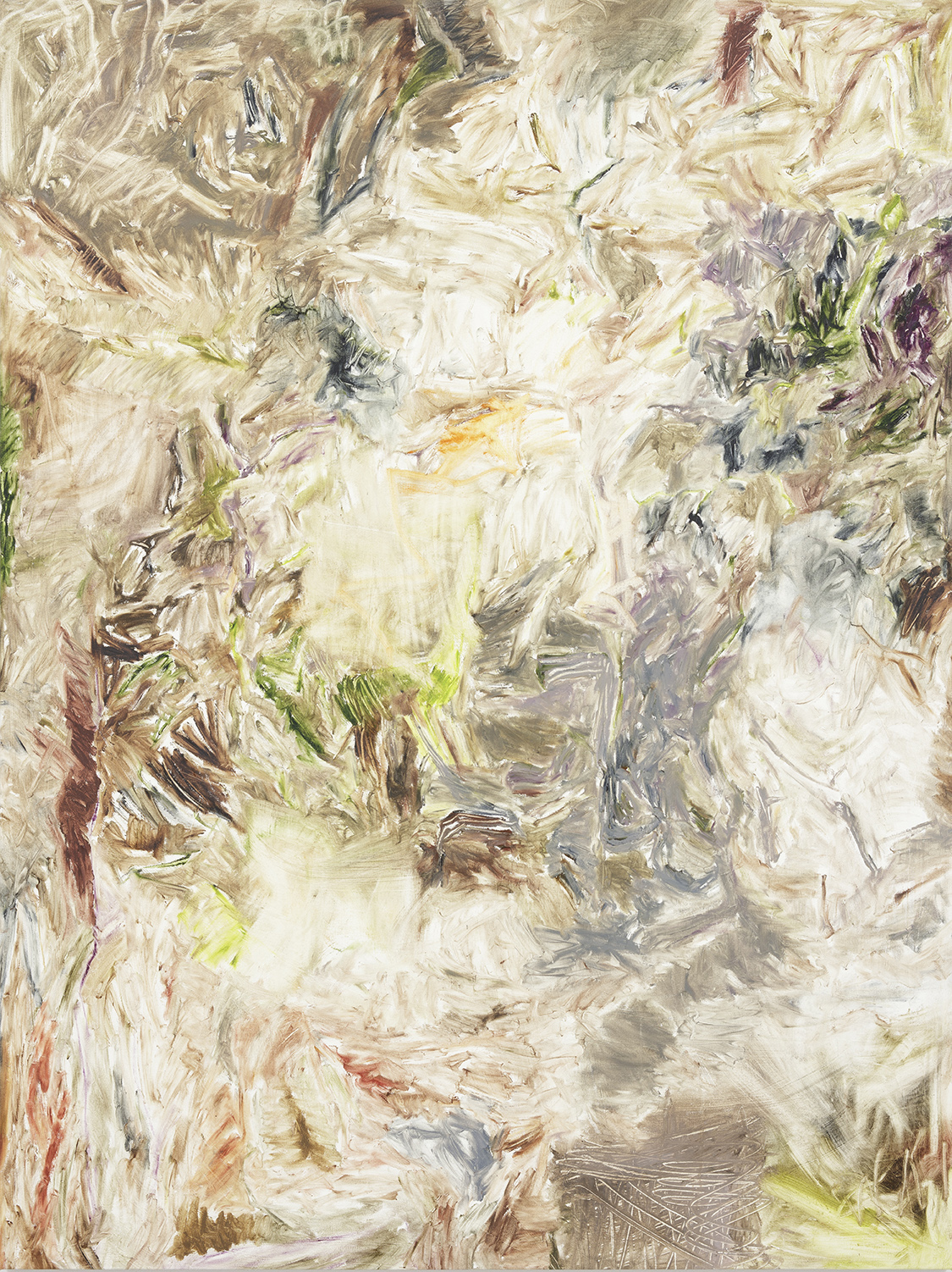 Joaquin Boz. <em>Untitled</em>, 2018. Oil on canvas, 75 1/2 x 56 1/2 inches (191.8 x 143.5 cm)