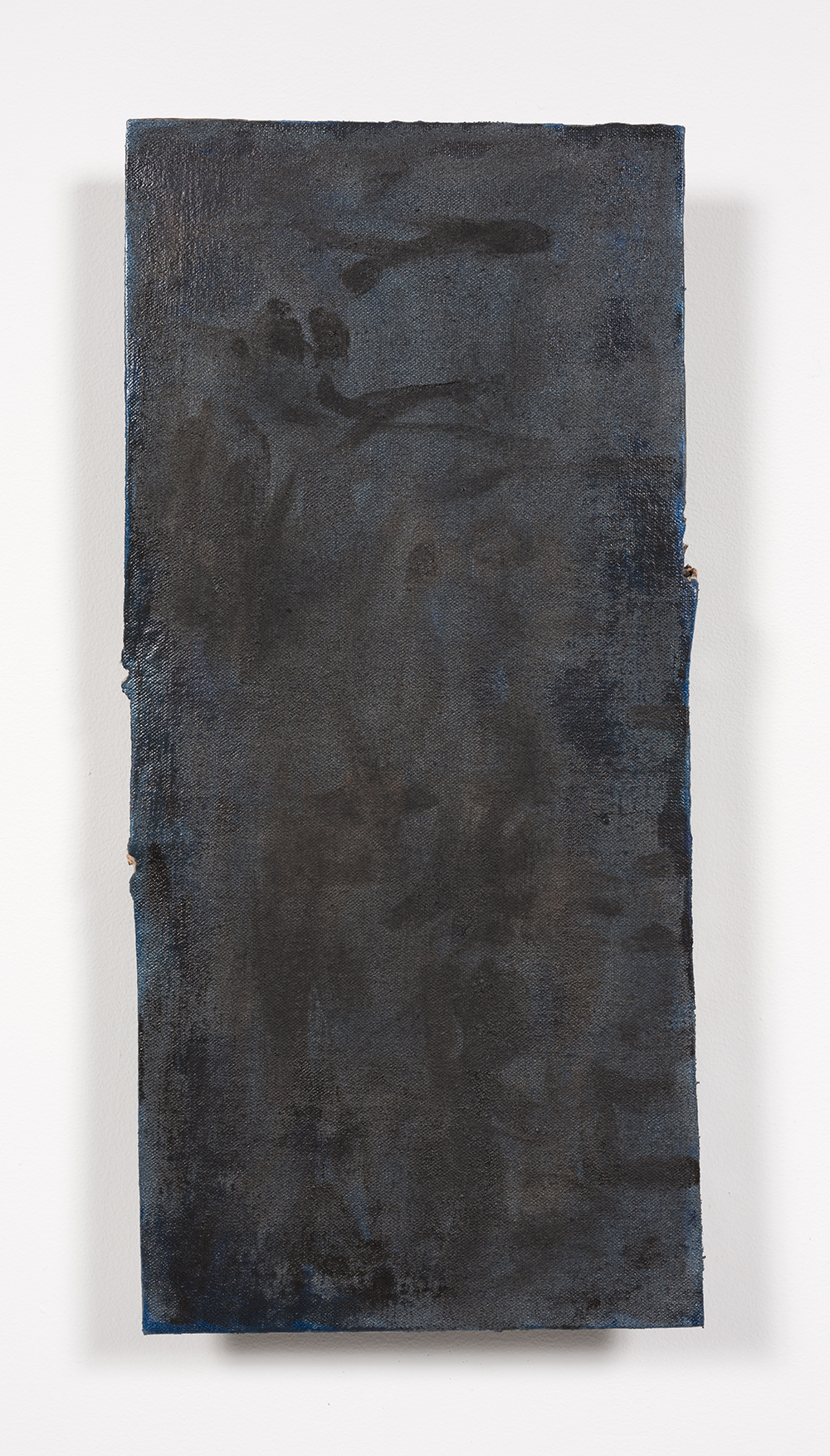 Graham Collins. <i>The Dropdown Menu of the Soul</i>, 2019. Oil and enamel on hemp laid on ceramic, 25 x 11 3/4 inches  (63.5 x 29.8 cm)