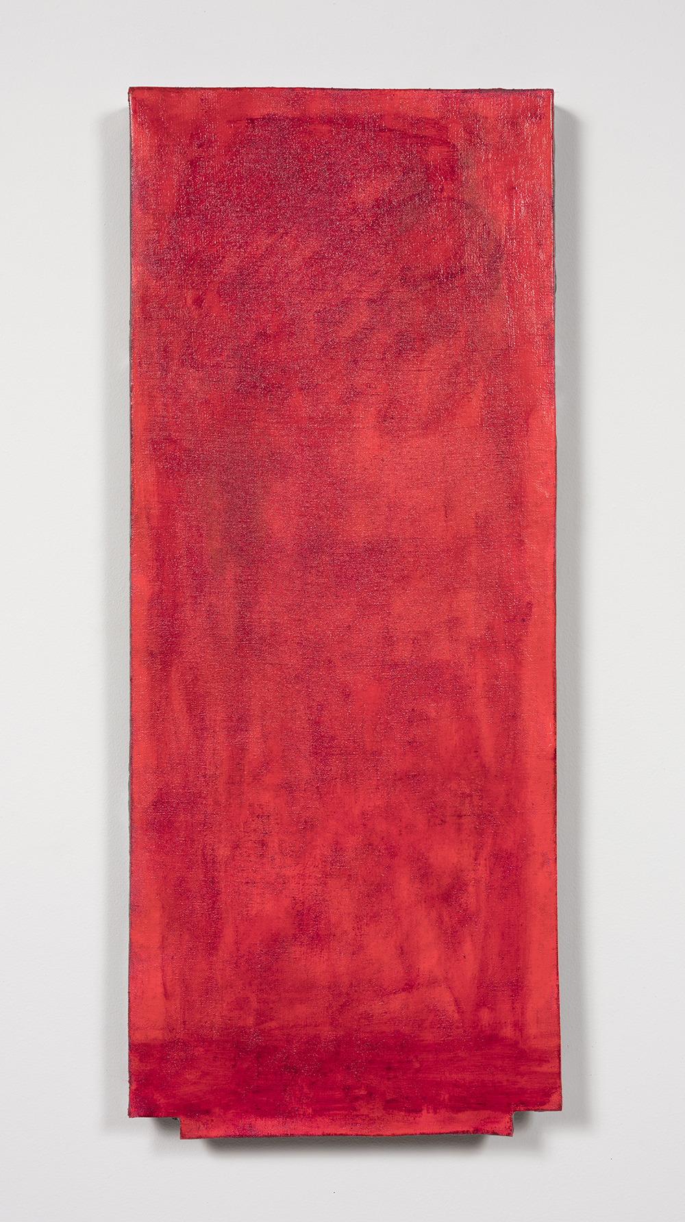 Graham Collins. <i>West 19th St.</i>, 2019. Oil and enamel on hemp laid on ceramic, 34 1/8 x 14 1/8 inches  (86.7 x 35.9 cm)