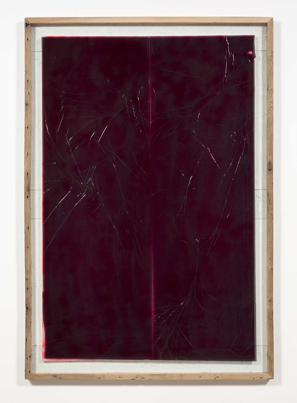 Graham Collins. <i>Magnolia</i>, 2019. Spray enamel on canvas, reclaimed wood, glass, window tint, 86 x 59 3/4 inches  (218.4 x 151.8 cm)