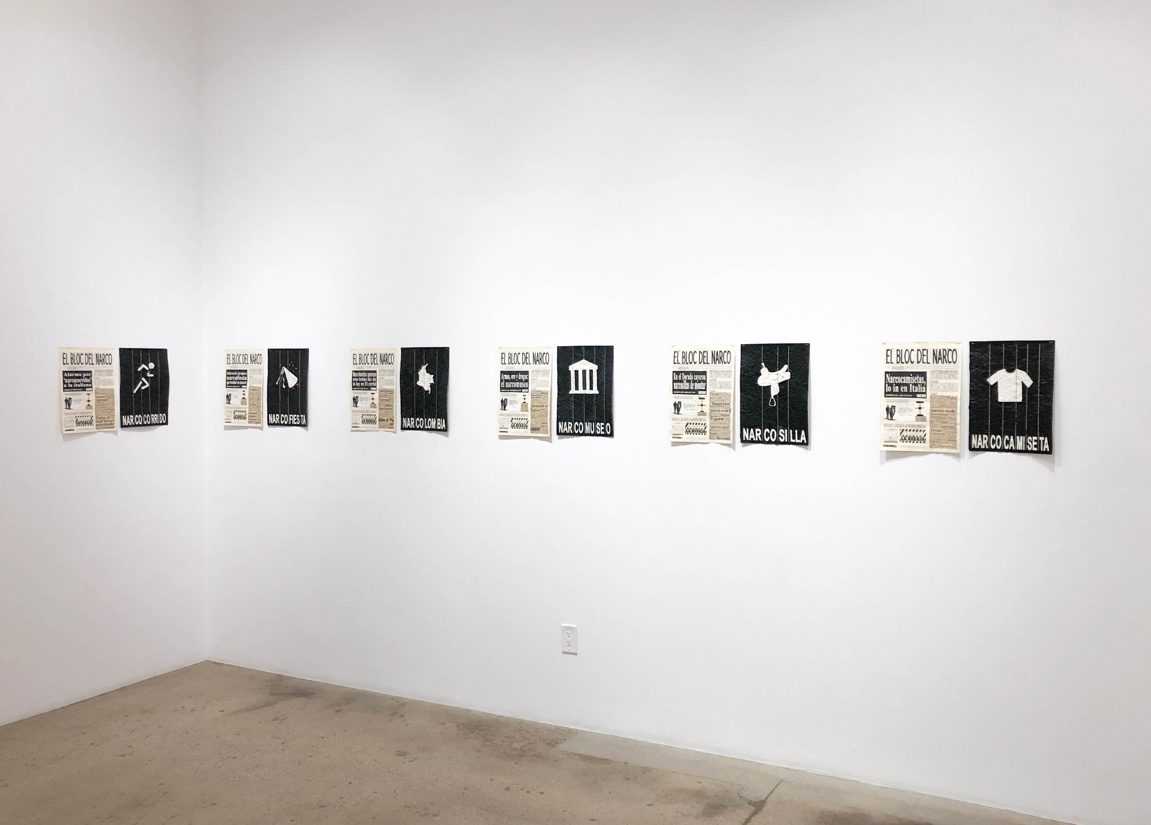 <em> El Bloc Del Narco</em>. Installation view, Steve Turner, 2019