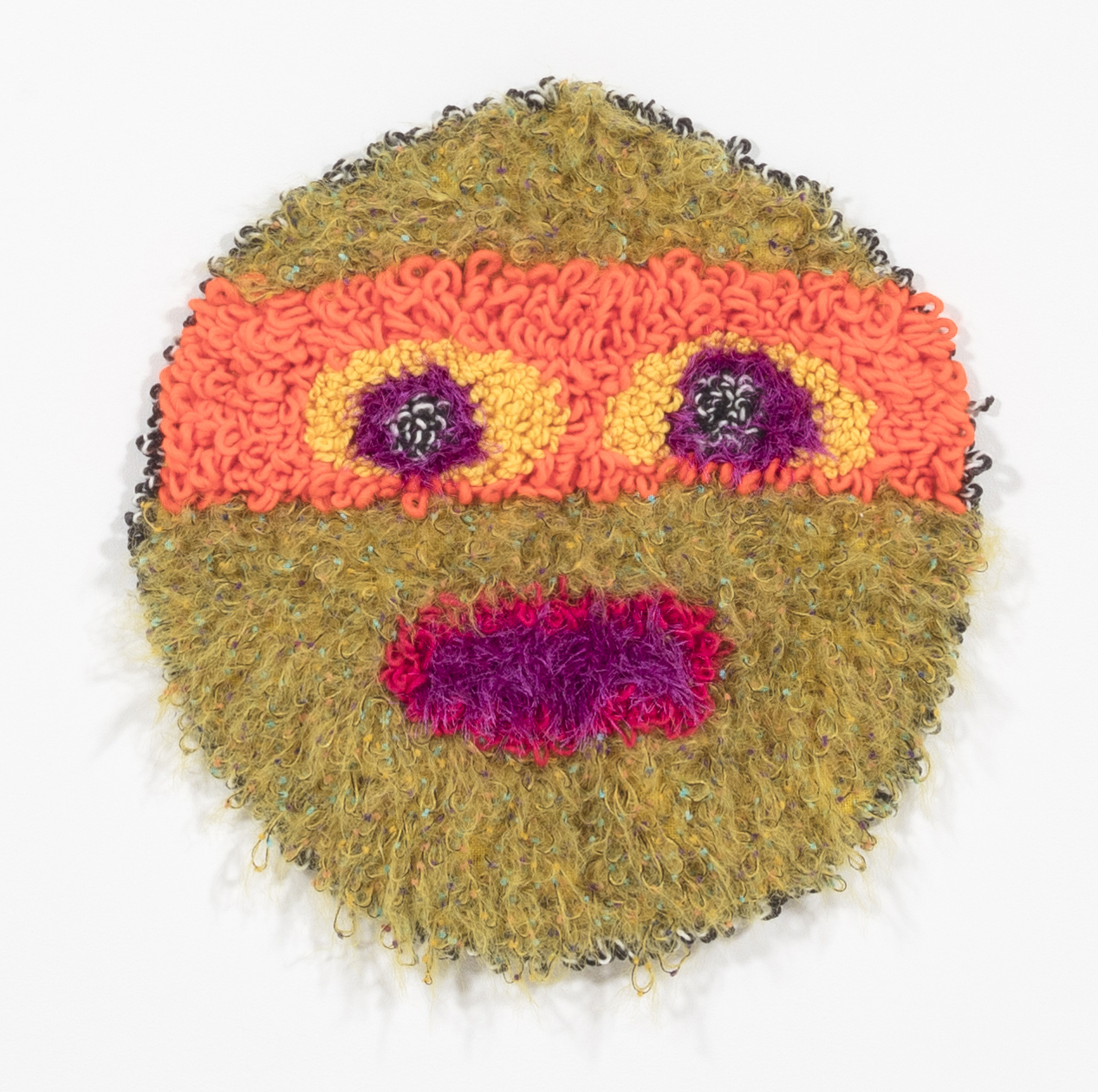 Hannah Epstein. <em>Planet Accidental Ninja Turtle</em>, 2018. Wool, acrylic and polyester, 21 x 21 inches (53.3 x 53.3 cm)