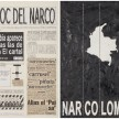 Camilo Restrepo. <em>El Bloc Del Narco #12, </em> 2016. Ink, water-soluble wax pastel, tape, glue, newspaper clippings, staples, plastic bag, paper dust and saliva on paper on paper,  16 1/2 x 24 (41.9 x 61 cm) thumbnail