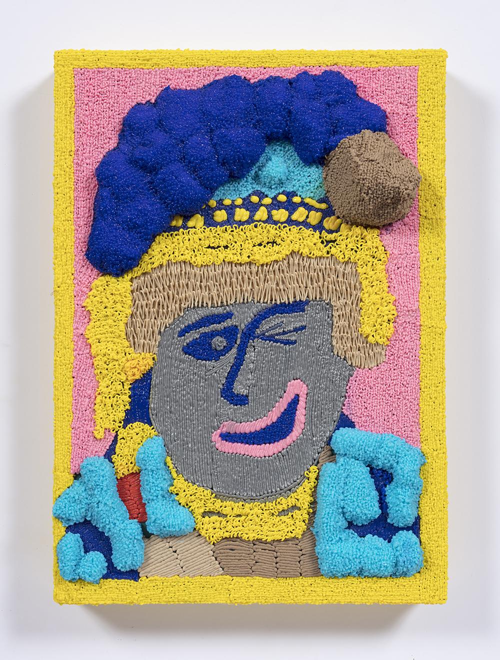 Dominic Dispirito. <em>Oi oi saveloyyyyy</em>, 2018. Manually printed PLA plastic on board, 11 3/4 x 8 1/4 inches  (30 x 21 cm)
