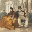 Attributed to Philippe Jacques Linder. <em>Untitled, (L'Anglais à Paris) (An Englishman in Paris),</em> c. 1867. Color lithograph. thumbnail