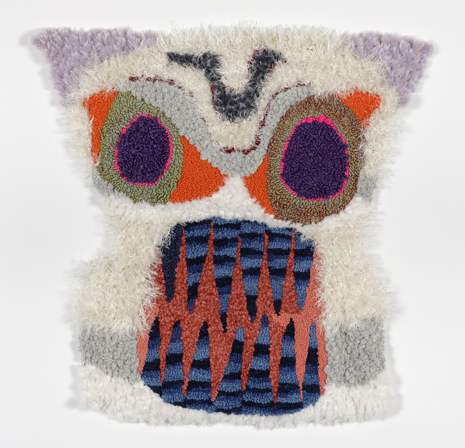 Hannah Epstein. <em>Tiki Totem</em>, 2019. Wool, acrylic, polyester and burlap, 30 x 30 inches  (76.2 x 76.2 cm)