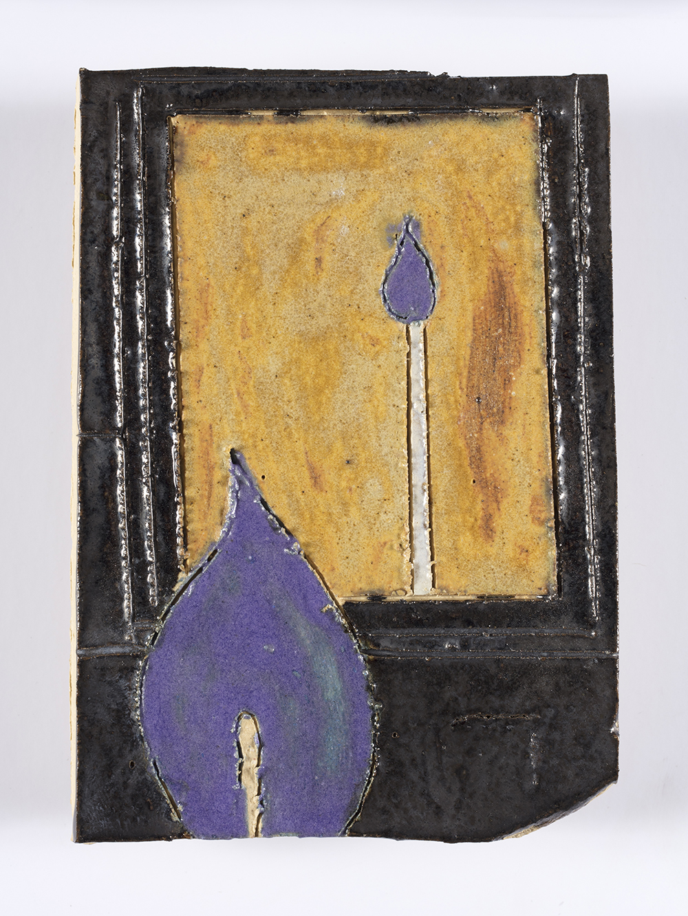 Kevin McNamee-Tweed. <em>Candle Reflection</em>, 2018. Glazed ceramic, 5 1/4 x 3 5/8 inches  (13.3 x 9.2 cm)