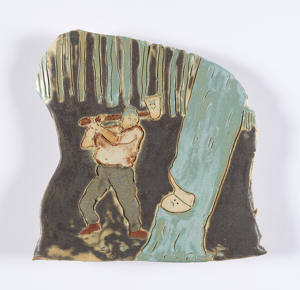 Kevin McNamee-Tweed. <em>Lumber</em>, 2019. Glazed ceramic, 6 1/2 x 6 7/8 inches  (16.5 x 17.5 cm)