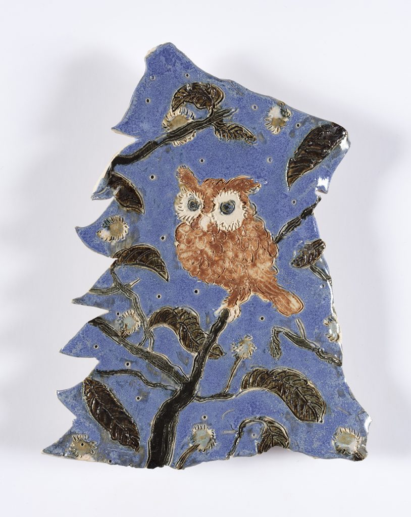 Kevin McNamee-Tweed. <em>Perch (Owl)</em>, 2019. Glazed ceramic, 6 3/4 x 5 inches  (17.1 x 12.7 cm)