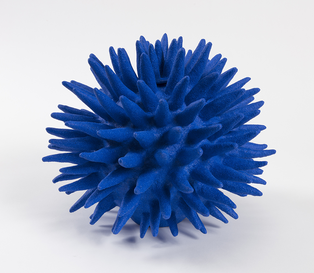 Jennifer Nocon. <em>Untitled</em>, 2019. Ceramic stoneware, sand, acrylic paint, 10 x 10 x 10 inches (25.4 x 25.4 x 25.4 cm)