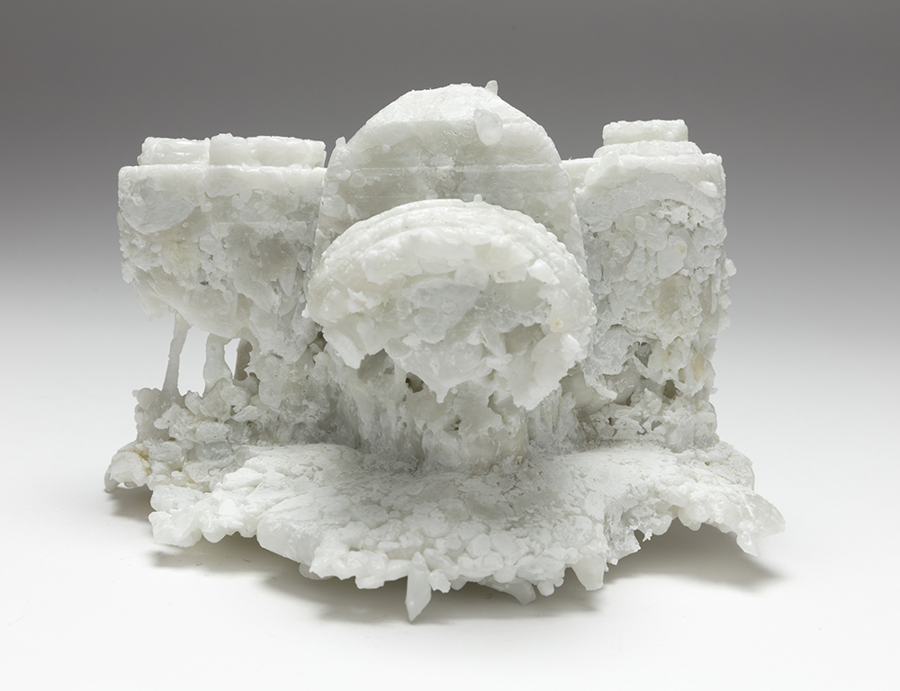 Maccabee Shelley. <em>Timepeice #5</em>, 2019. Kiln cast recycled glass, 4 1/4 x 6 3/4 x 4 3/4 inches  (10.8 x 17.1 x 12.1 cm)