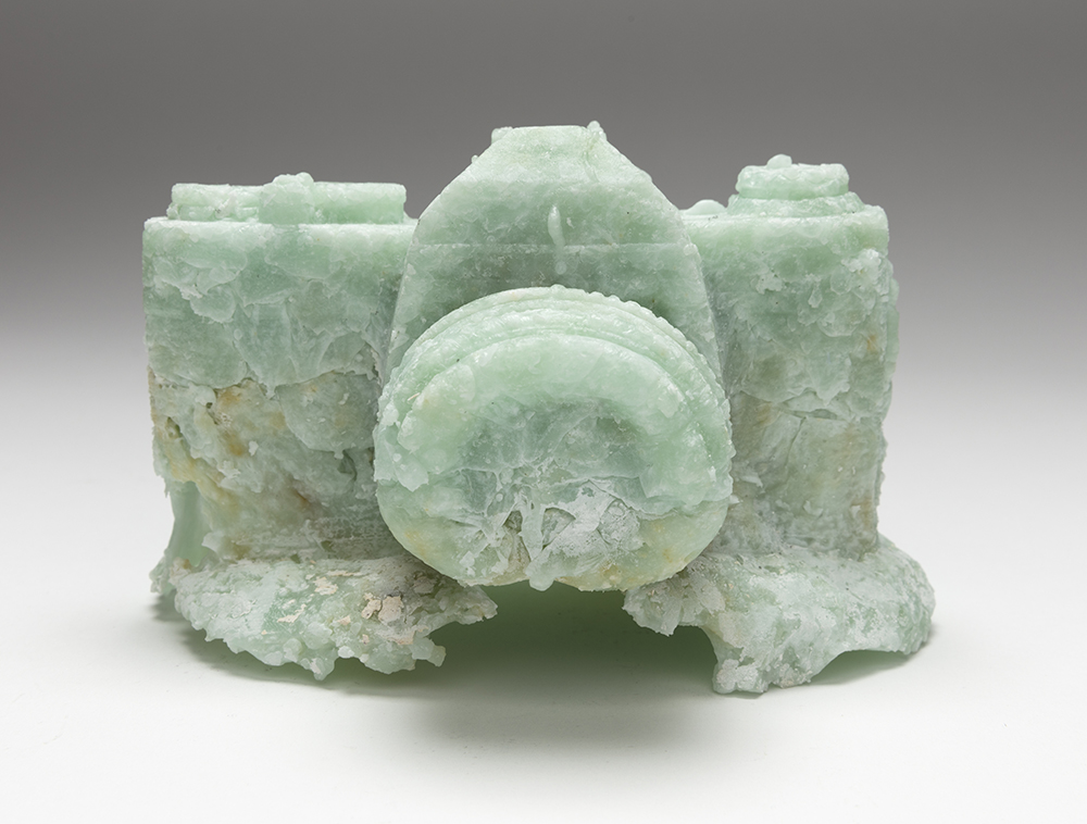Maccabee Shelley. <em>Timepeice #4</em>, 2019. Kiln cast recycled glass, 3 3/4 x 6 1/2 x 4 1/2 inches  (9.5 x 16.5 x 11.4 cm)