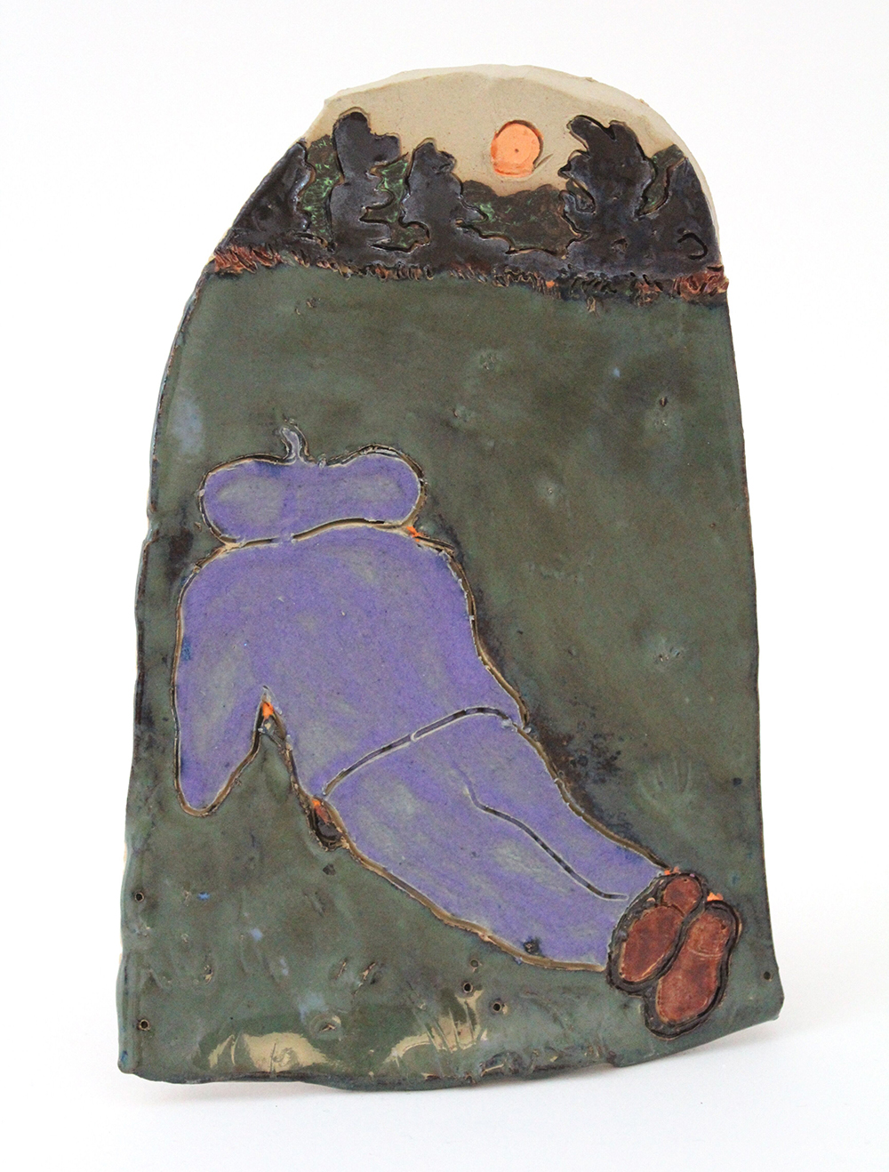 Kevin McNamee-Tweed. <em>Sunday Artist</em>, 2019. Glazed ceramic, 7 1/2 x 5 1/8 inches  (19.1 x 13 cm)