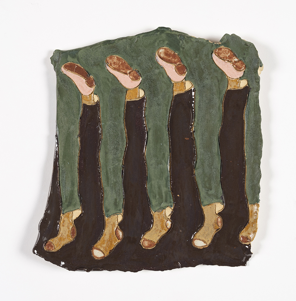 Kevin McNamee-Tweed. <em>Feet</em>, 2019. Glazed ceramic, 9 3/4 x 9 1/4 inches  (24.8 x 23.5 cm)