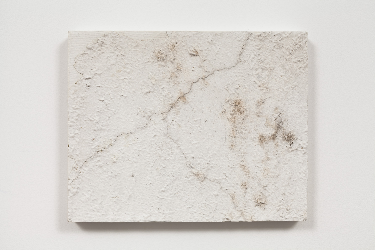 Pablo Rasgado. <em>Lightning</em>, 2011. Acrylic, plaster and dirt on canvas, 8 x 10 inches  (20.3 x 25.4 cm)