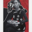 Brittany Tucker.<em> Portrait of the Artist Taking a Call</em>, 2019. Oil on panel, 36 x 24 inches  (91.4 x 61 cm) thumbnail