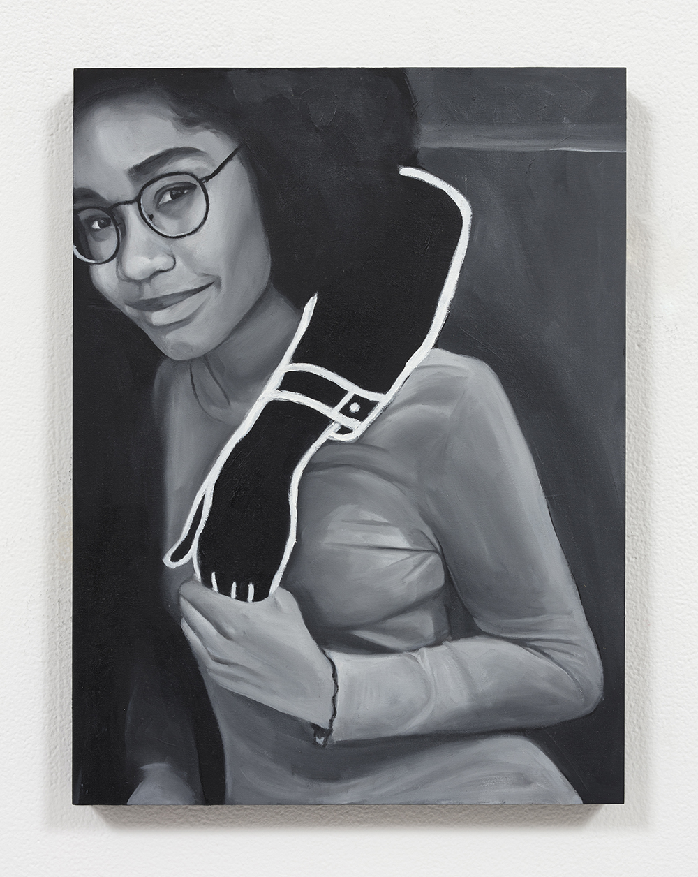 Brittany Tucker.<em> Ouch!</em>, 2019. Oil on panel, 12 x 9 inches  (30.5 x 22.9 cm)
