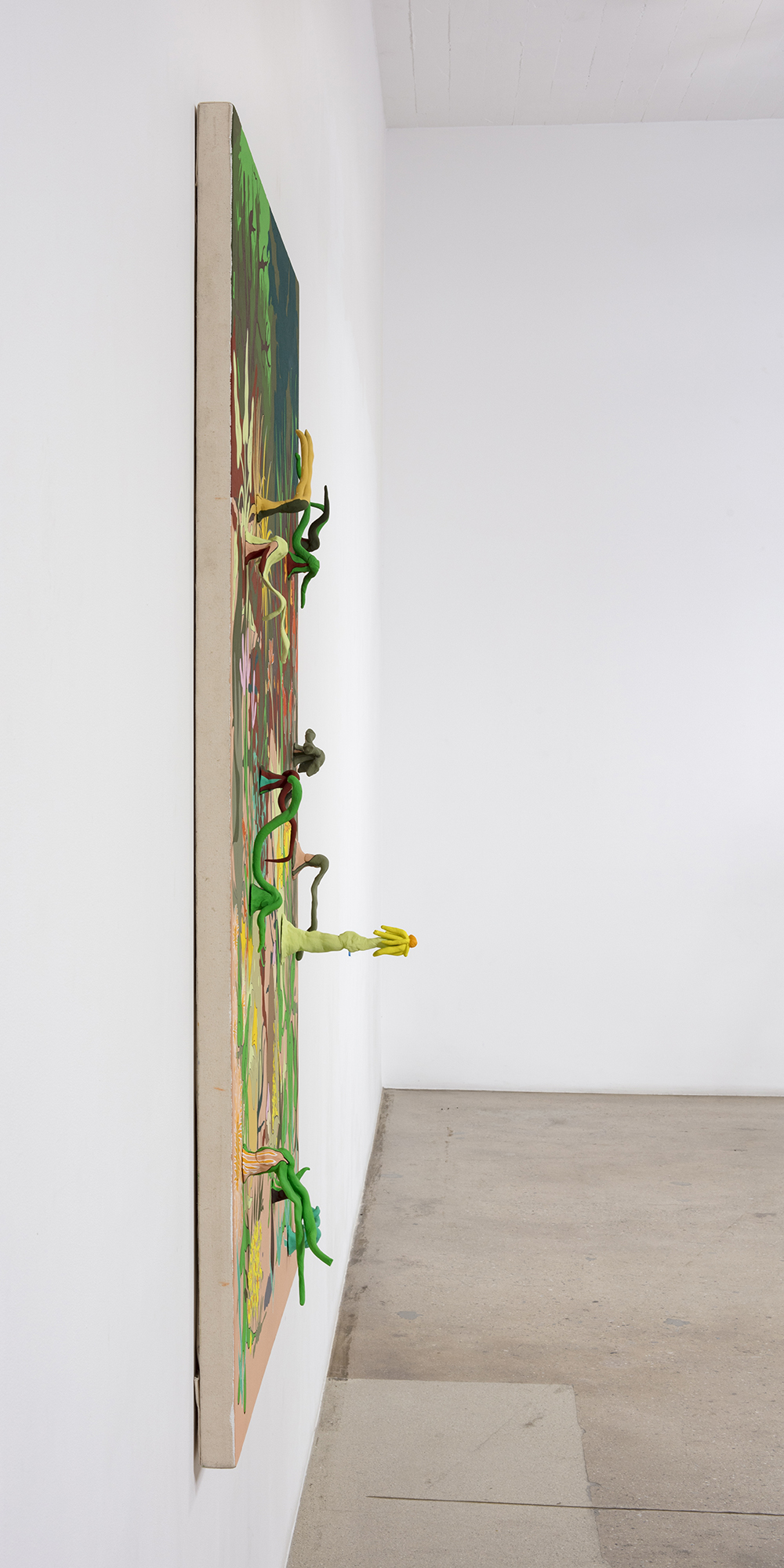 Chris Lux. <em>The Garden</em>, 2019. Flashe and epoxy resin on canvas on panel, 68 x 47 inches (172.7 x 119.4 cm)