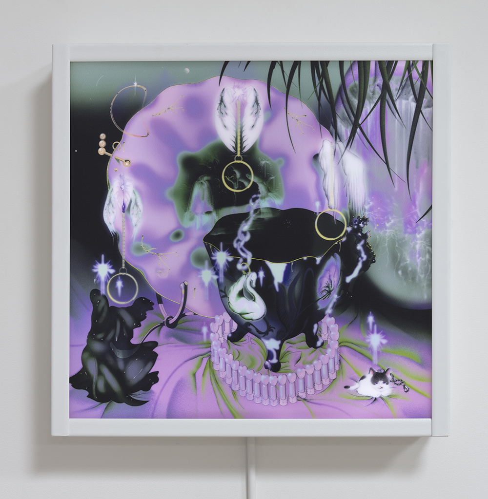 Ram Han. <em>Souvenir Merged</em>, 2019. Digital print in light box, 24 x 24 inches  (61 x 61 cm)
