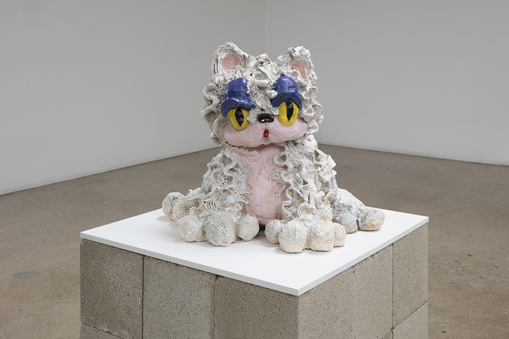 Alake Shilling. <em>Cutie Cat</em>, 2019. Ceramic and glaze, 17 x 24 x 24 inches (43.2 x 61 x 61 cm)