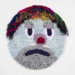 Hannah Epstein.<em> The Last Clown in the Shtetl</em>, 2019. Acrylic, polyester, wool, 47 x 41 inches  (119.4 x 104.1 cm) thumbnail