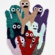 Hannah Epstein.<em> HEYYYYYYY</em>, 2018. Wool, acrylic, polyester and burlap, 46 x 34 inches (116.8 x 86.4 cm) thumbnail