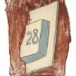 Kevin McNamee-Tweed.<em> 28</em>, 2019. Glazed ceramic, 7 1/2 x 5 3/4 inches (19.1 x 14.6 cm) thumbnail