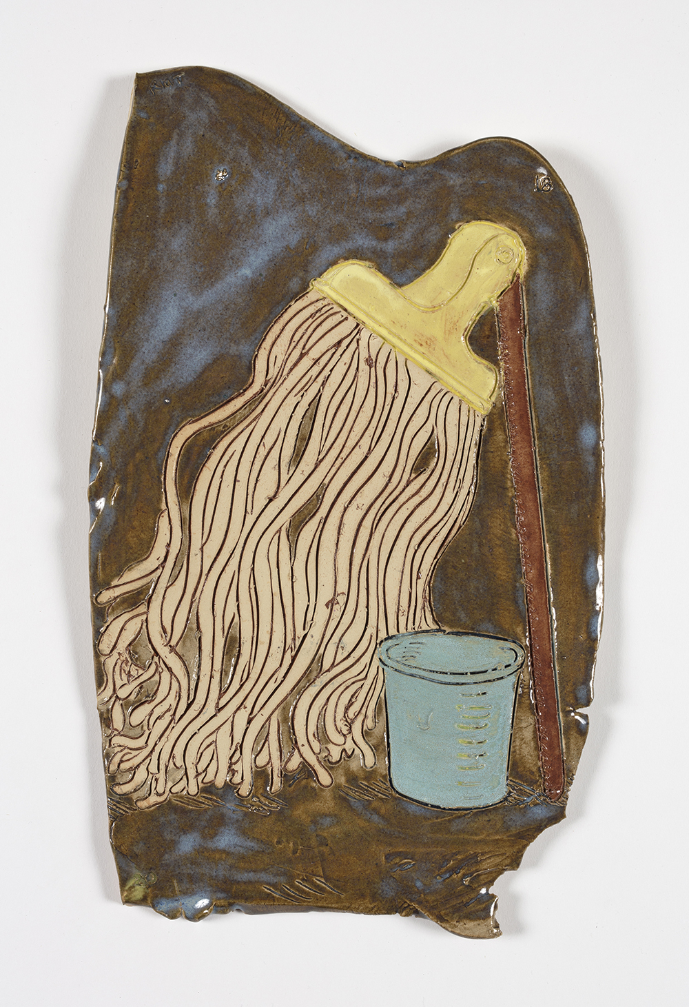 Kevin McNamee-Tweed.<em> Mop</em>, 2018. Glazed ceramic, 12 1/2 x 7 1/4 inches (31.8 x 18.4 cm)