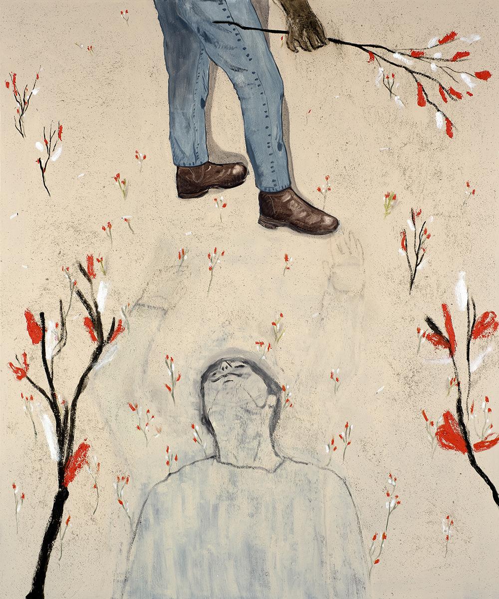 Francisco Rodriguez.<em> Aridity</em>, 2019. Oil on canvas, 78 3/4 x 65 inches (200 x 165 cm)