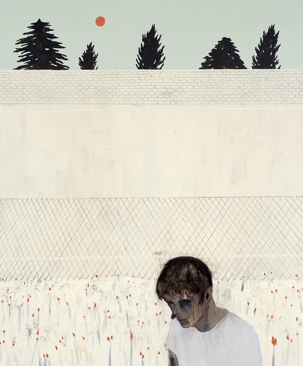 Francisco Rodriguez.<em> Backyard</em>, 2019. Oil on canvas, 82 5/8 x 66 7/8 inches (210 x 170 cm)