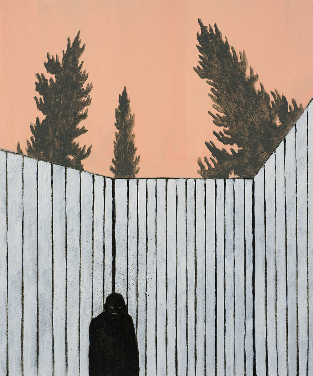 Francisco Rodriguez.<em> Corner</em>, 2019. Oil on canvas, 23 5/8 x 19 5/8 inches (60 x 50 cm)