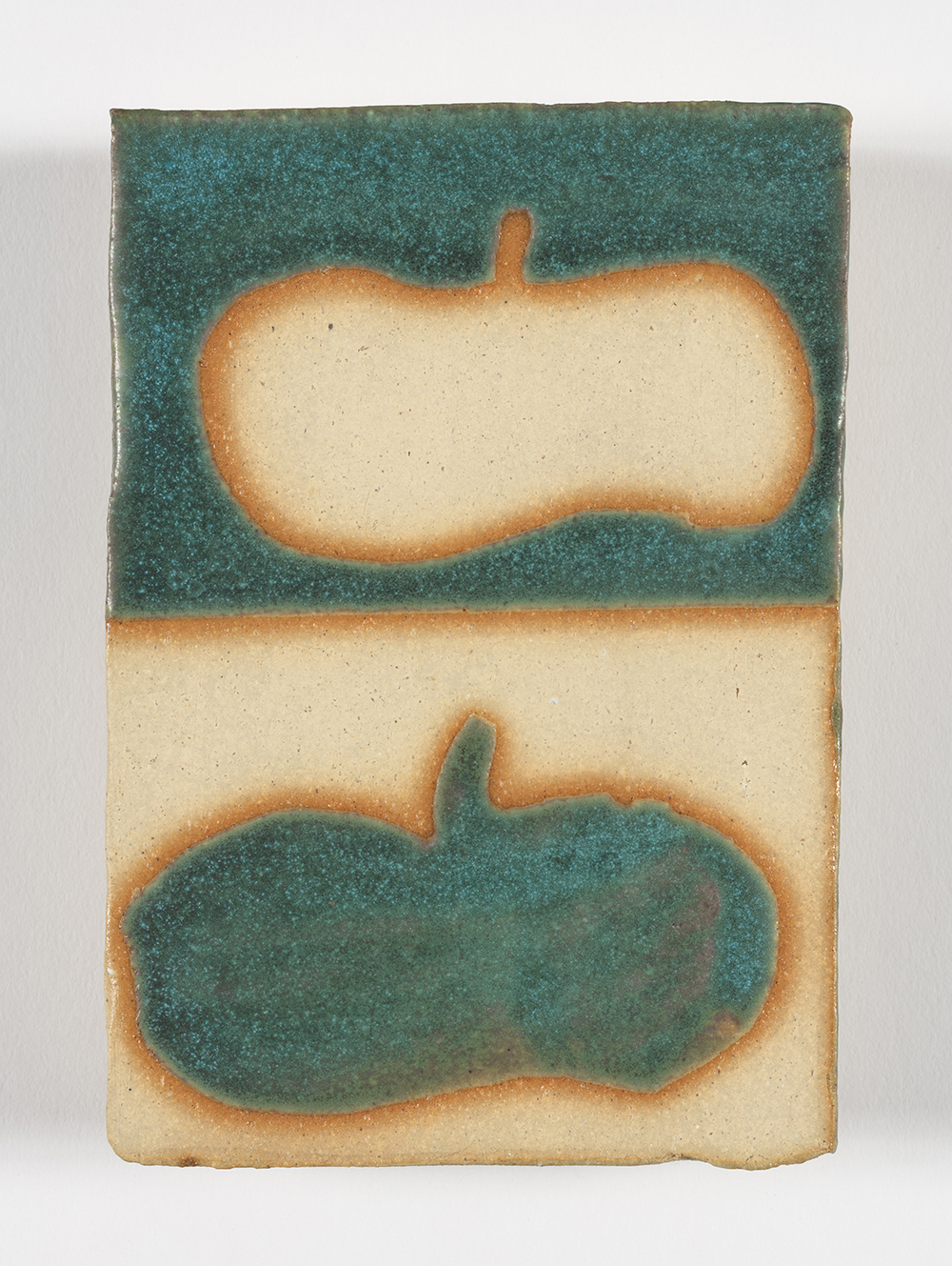 Kevin McNamee-Tweed.<em> Beret Debt</em>, 2019. Glazed ceramic, 5 1/4 x 3 1/2 inches (13.3 x 8.9 cm)
