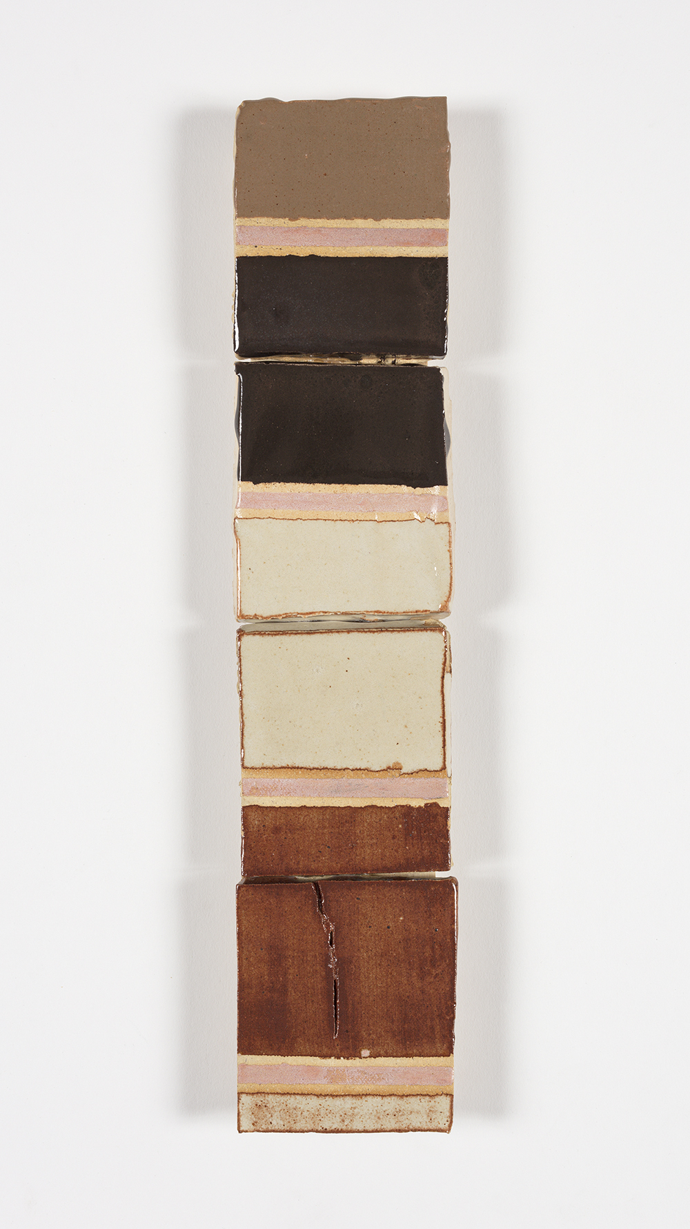 Kevin McNamee-Tweed.<em> Blinking</em>, 2019. Glazed ceramic, 13 x 2 3/4 inches (33 x 7 cm)