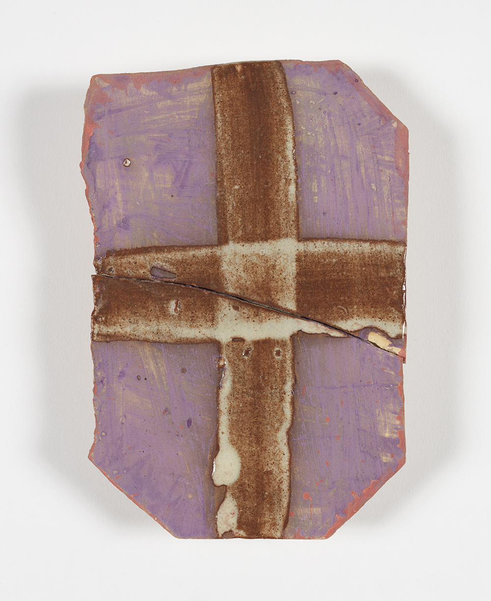 Kevin McNamee-Tweed.<em> Crux Re-crux</em>, 2018. Glazed ceramic, 7 3/4 x 5 1/4 inches (19.7 x 13.3 cm)