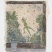 Kevin McNamee-Tweed.<em> Lizard and fireflies</em>, 2019. Monotype on mulberry paper mounted on wood, 11 x 8 in (27.9 x 20.3 cm) thumbnail