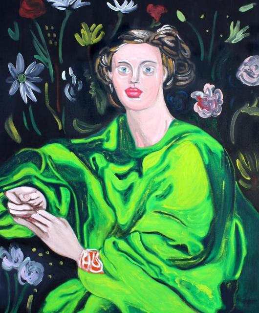 Dominic Dispirito.<em> My Mother, the Flower</em>, 2019. Oil on canvas, 47 1/4 x 39 3/8 in (120 x 100 cm)