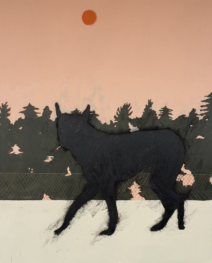 Francisco Rodriguez.<em> The Beast.</em>, 2019. Oil on canvas, 82 5/8 x 66 7/8 inches (210 x 170 cm)