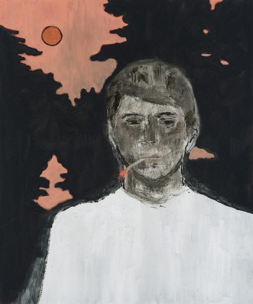 Francisco Rodriguez.<em> Young Man</em>, 2019. Oil on canvas, 23 5/8 x 19 5/8 inches (60 x 50 cm)