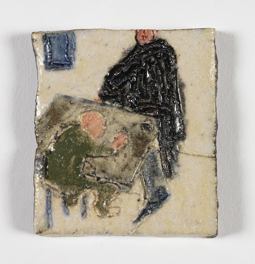 Kevin McNamee-Tweed.<em> FV</em>, 2019. Glazed ceramic, 2 1/2 x 2 inches (6.4 x 5.1 cm)