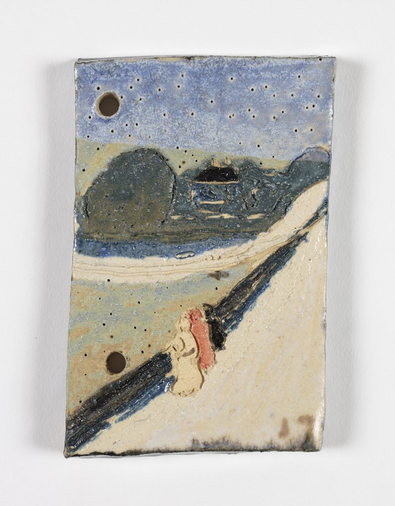 Kevin McNamee-Tweed.<em> The Bridge</em>, 2019. Glazed ceramic, 4 x 2 1/2 inches (10.2 x 6.4 cm)