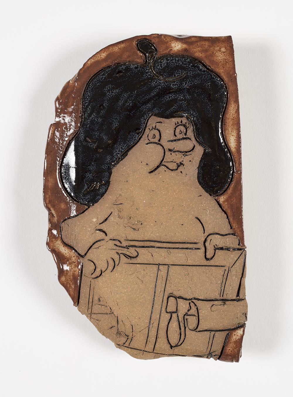 Kevin McNamee-Tweed.<em> Moonlighter</em>, 2019. Glazed ceramic, 7 x 4 inches (17.8 x 10.2 cm)