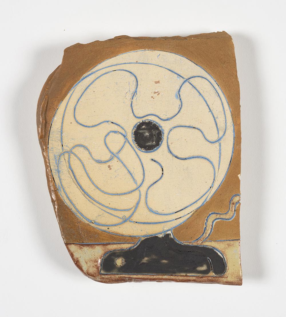 Kevin McNamee-Tweed.<em> Electric Fan</em>, 2019. Glazed ceramic, 7 1/2 x 6 inches (19.1 x 15.2 cm)