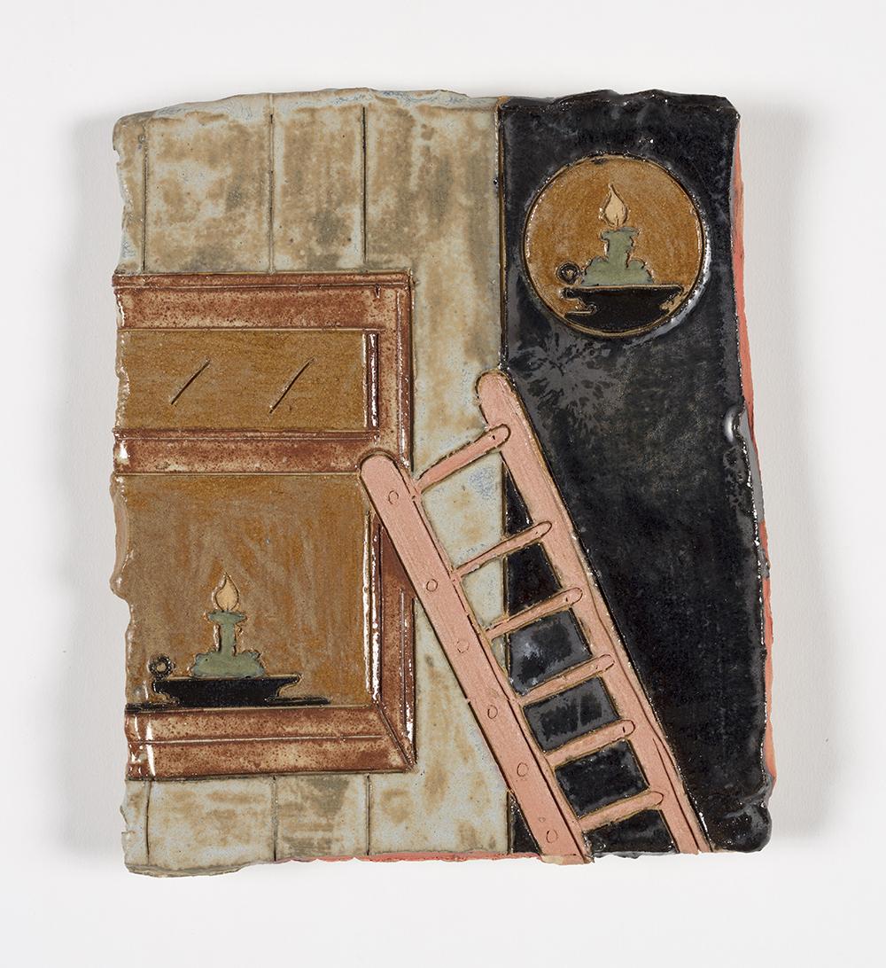 Kevin McNamee-Tweed.<em> Untitled (Ladder)</em>, 2019. Glazed ceramic, 7 1/2 x 6 3/4 inches (19.1 x 17.1 cm)