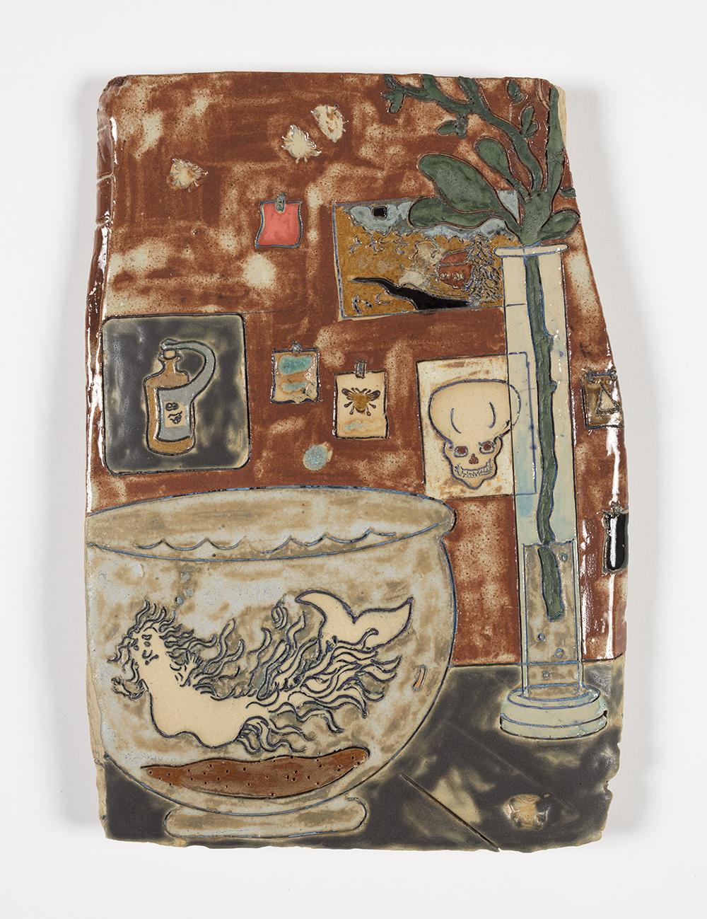 Kevin McNamee-Tweed.<em> Place</em>, 2019. Glazed ceramic, 12 x 8 1/2 inches (30.5 x 21.6 cm)