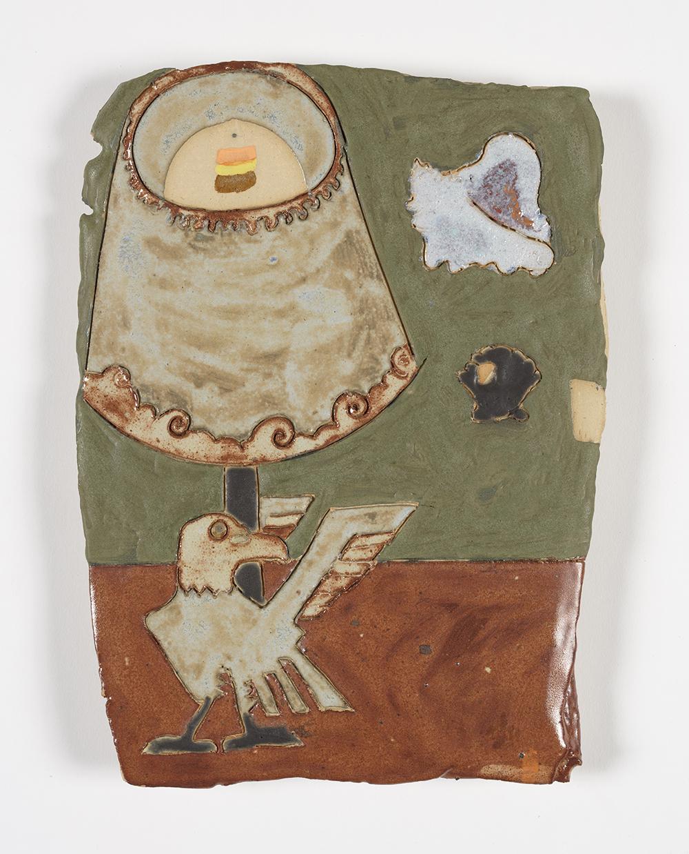 Kevin McNamee-Tweed.<em> Shore House</em>, 2019. Glazed ceramic, 11 x 8 inches (27.9 x 20.3 cm)